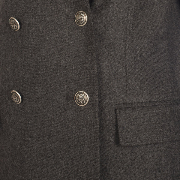 SWEET AND SAVORY GRAY WOOL COAT