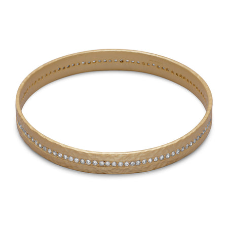14 Karat Gold Plated Sterling Silver Eternity Bangle