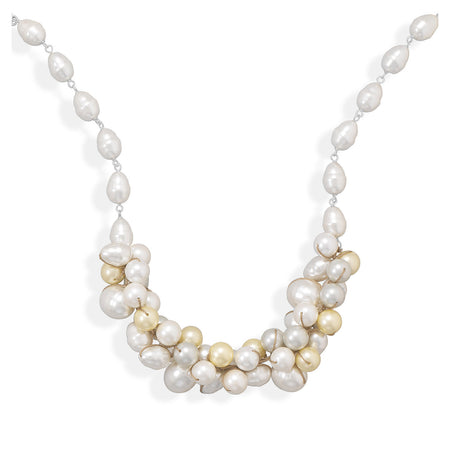 "16""+2"" Multicolor Shell Base Pearl Necklace"