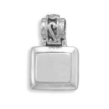 19mm Square Engravable Fancy Hinged Pendant