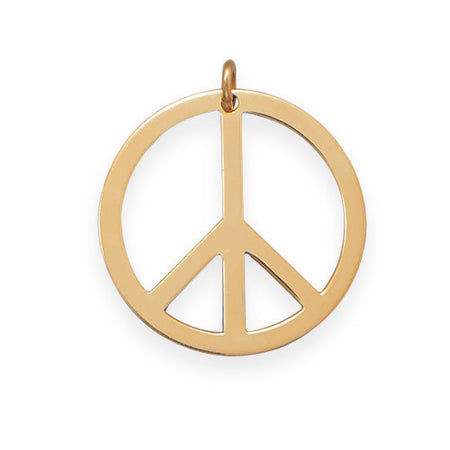 14/20 Gold Filled Peace Sign Pendant