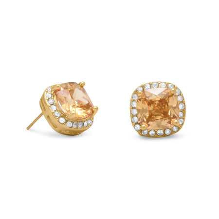 Champagne CZ and Clerringsar Crystals Fashion Ea