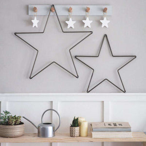Farringdon Hanging Metal Star- Two sizes - Duck Barn Interiors