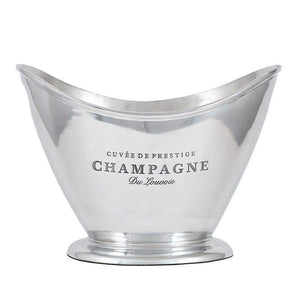 Polished Oval Champagne Cooler Ice Bucket - Duck Barn Interiors