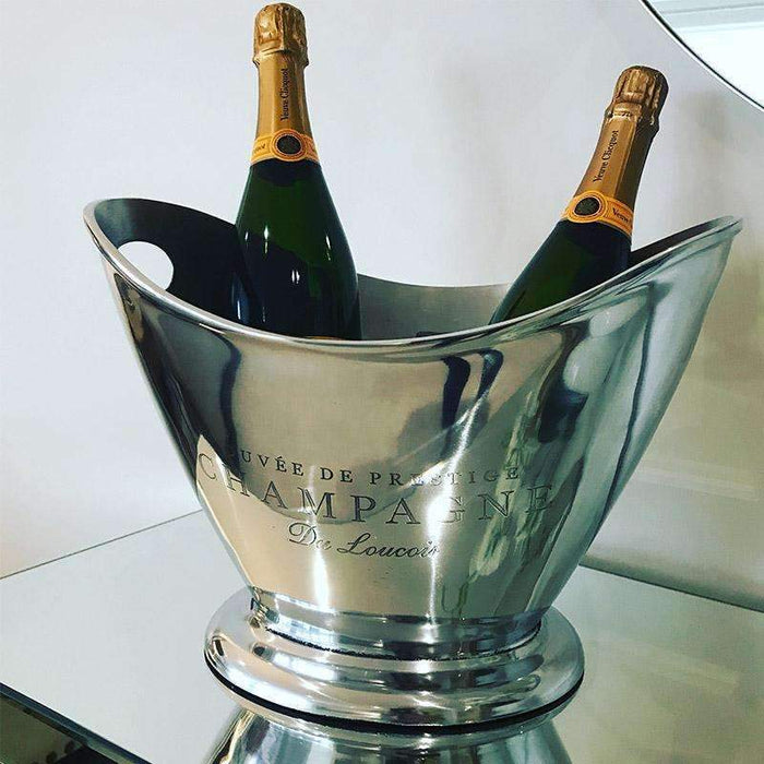 Polished Oval Champagne Cooler Ice Bucket