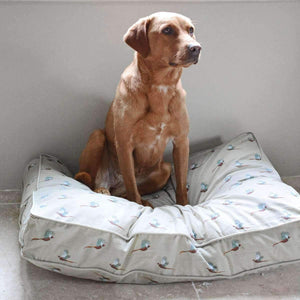 Sophie Allport Pheasant Dog Bed Mattress (2 sizes) - Duck Barn Interiors
