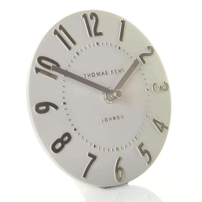 Thomas Kent Mulberry Silver Cloud Mantel Clock