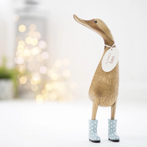 Wooden Ducks in Welly Boots
