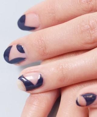 Half & Half Nail Polish How-To
