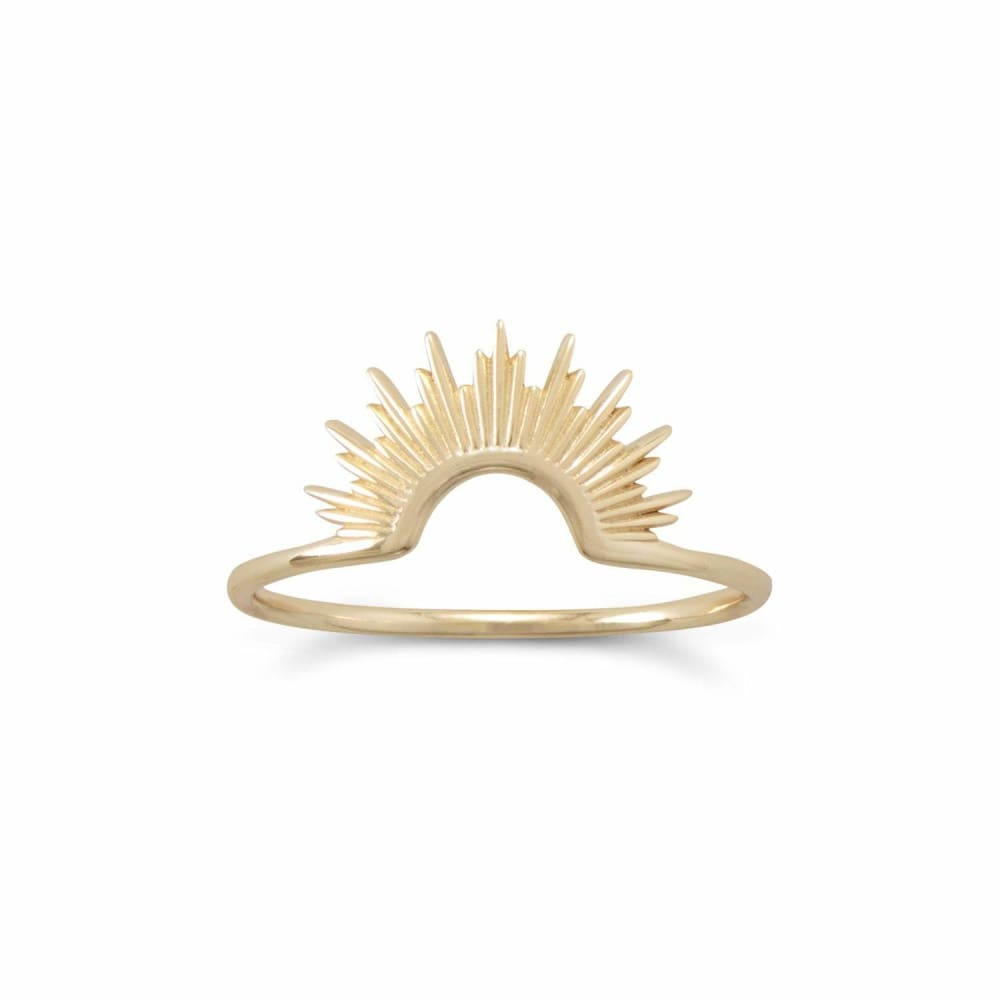 14 Karat Gold Plated Sunburst Ring - Ring - boho-bangles