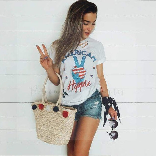 American Hippie Graphic Tee - Top - boho-bangles