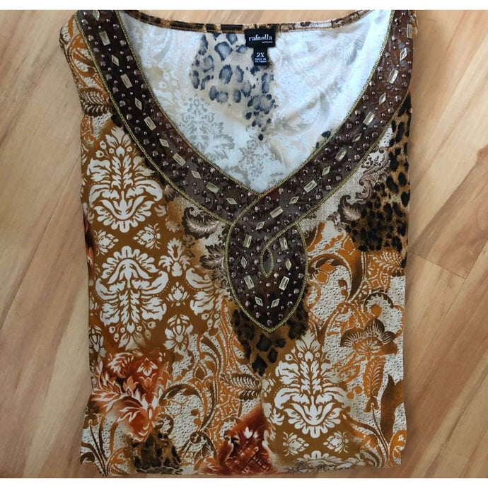 Bohemian Gently Used Plus Size Tunic - Top - boho-bangles