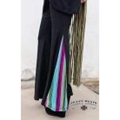 Boss Babe Black & Serape Flare Pants, Bottoms, Crazy Train, Bohemian Bangles