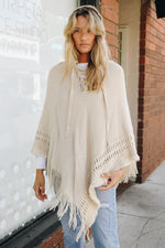 Hooded Knit Poncho - Bohemian Bangles