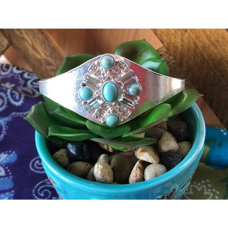 Four Winds Turquoise Cuff, bracelet, La3 Accessories, Bohemian Bangles