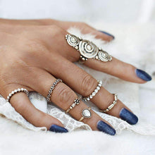 Golden Scrolls Knuckle/Midi Ring Set-Seven Rings, Ring, Bohemian Bangles, Bohemian Bangles