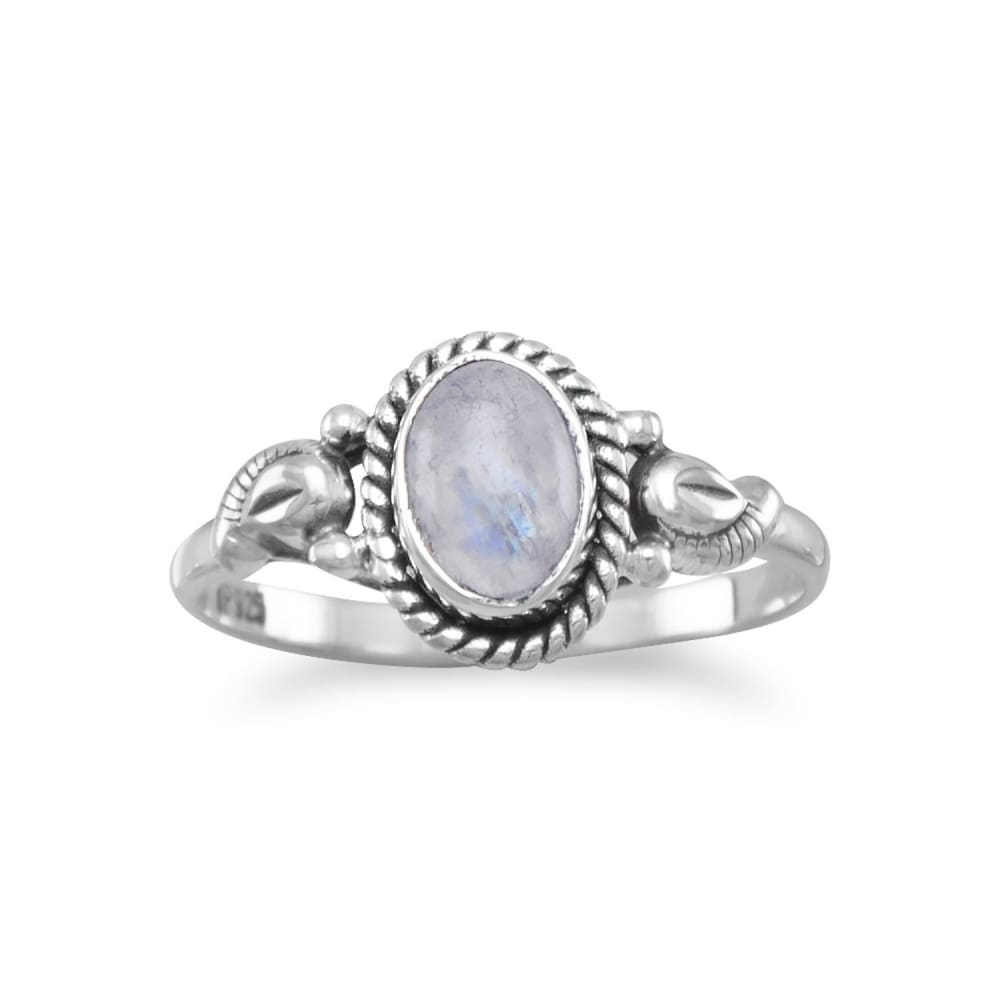 Moonstone Ring in Sterling Silver-Sizes 5-9 - Ring - boho-bangles