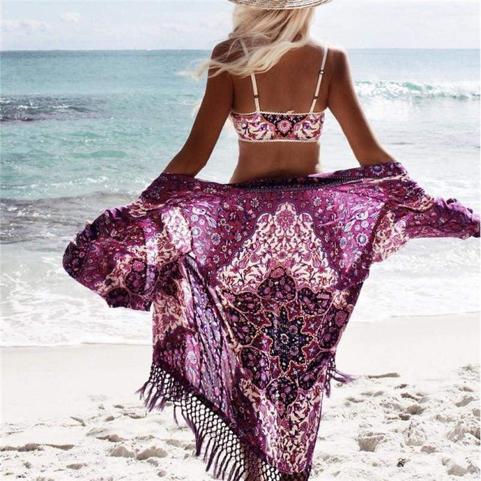 Pink Mermaid Bohemian Cover Up - Beach Cover Up - boho-bangles