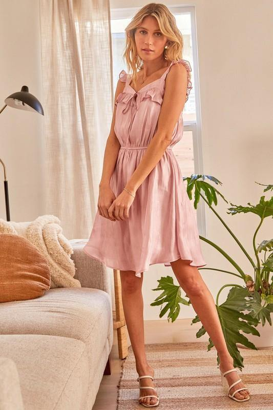 All That Shimmers Dress-Rose