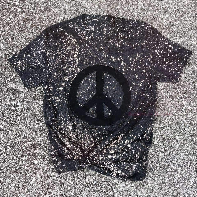 Splattered Peace Tee, Top, H. Hippie, Bohemian Bangles