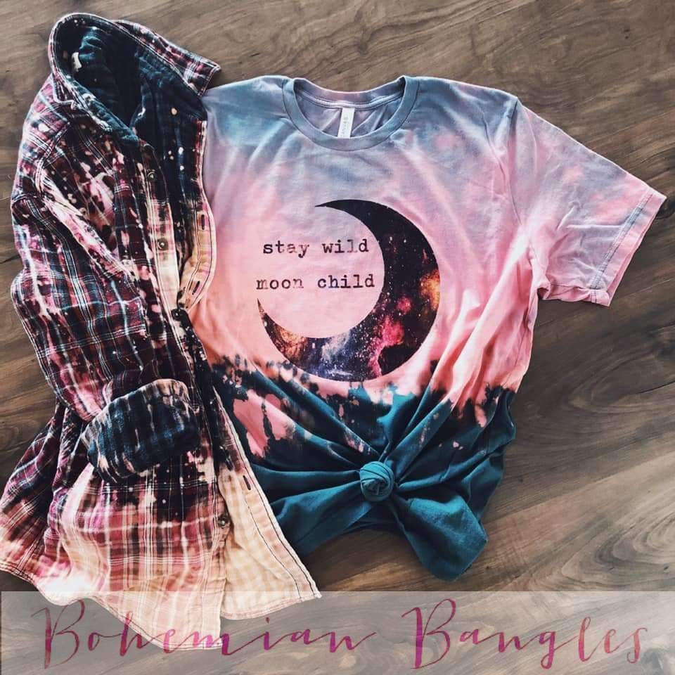 Stay Wild Moon Child Tee, Top, H. Hippie, Bohemian Bangles
