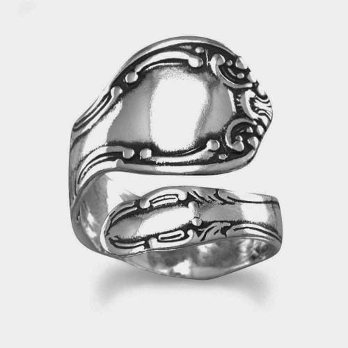 Sterling Silver Adjustable Spoon Ring, Ring, MMA, Bohemian Bangles