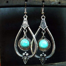 Tibetan Silver Drop Earrings - Earrings - boho-bangles