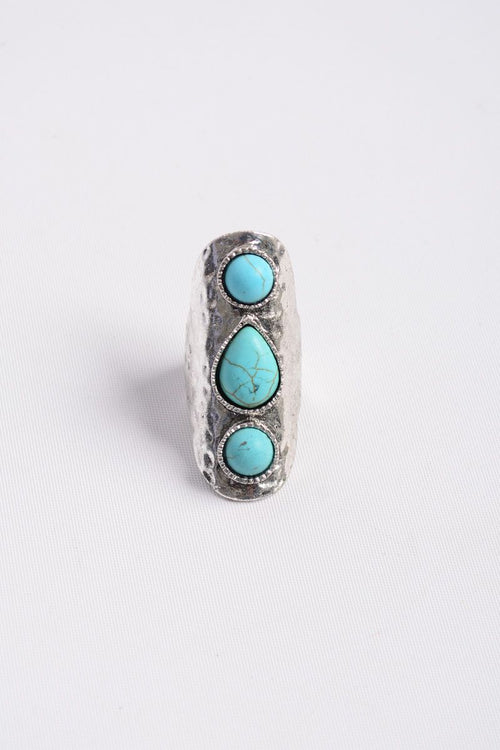 Waterfall Droplet Adjustable Ring - Bohemian Bangles