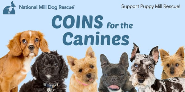 national mill dog rescue coins for canines donations