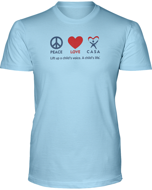 Peace Love CASA Unisex Short Sleeve Tees - Colors