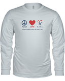 Peace Love CASA Unisex Long Sleeve Tees - Colors