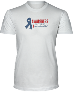 Awareness Matters Unisex Short Sleeve Tees - White