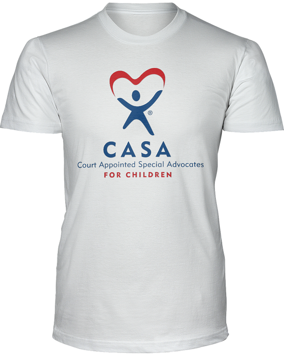 CASA Logo Unisex Short Sleeve Tees - White
