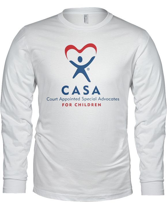 CASA Logo Unisex Long Sleeve Tees - White
