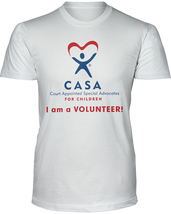 CASA I am a Volunteer Unisex Short Sleeve Tees - White