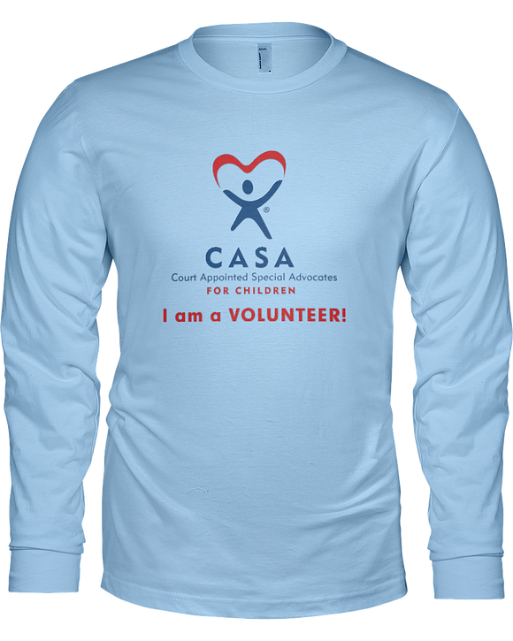 CASA  I am a Volunteer Unisex Long Sleeve Tees - Colors