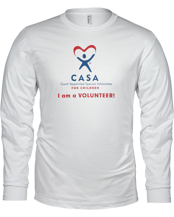 CASA I am a Volunteer Unisex Long Sleeve Tees - White