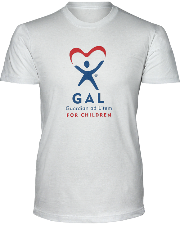 GAL Logo Unisex Short Sleeve Tees - White