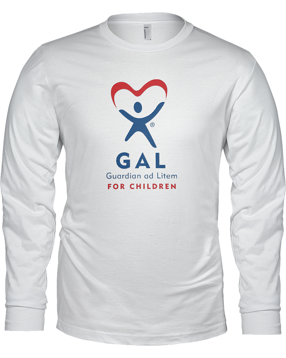 GAL Logo Unisex Long Sleeve Tees - White
