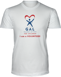 GAL I am a Volunteer Unisex Short Sleeve Tees - White