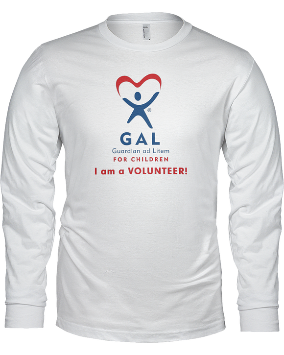 GAL I am a Volunteer Unisex Long Sleeve Tees - White