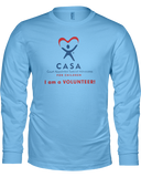 CASA I am a Volunteer - Ladies Long Sleeve Tees - Colors