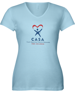 CASA Logo Ladies V-Neck Short Sleeve T-shirt - COLORS