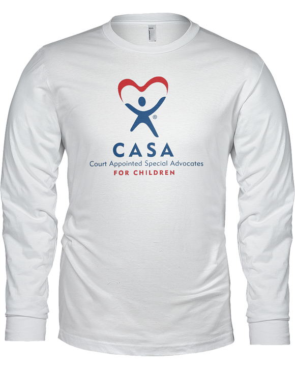 CASA Logo Ladies Long Sleeve Tees - White