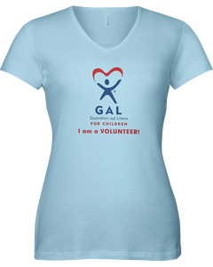 GAL I am a Volunteer Ladies V-Neck Short Sleeve T-shirt - COLORS