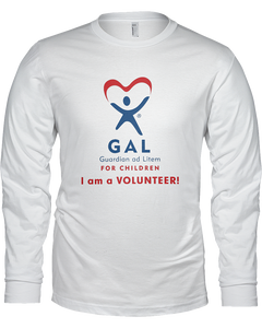 GAL I am a Volunteer Ladies Long Sleeve Tees - White