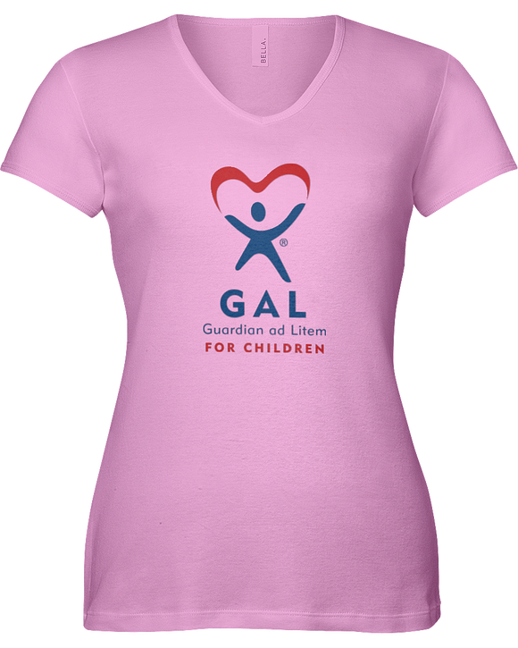GAL Logo Ladies V-Neck Short Sleeve T-shirt - COLORS
