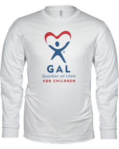 GAL Logo Ladies Long Sleeve Tees - White