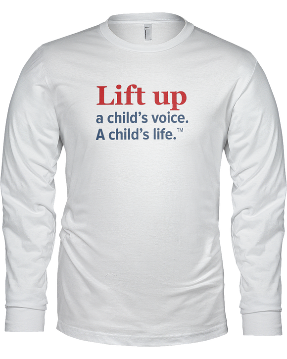 Lift Up a Child's Voice, I Child's Life Ladies Long Sleeve Tees - White