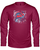 Care Vintage Splash Ladies Long Sleeve T-Shirt - with CASA Logo